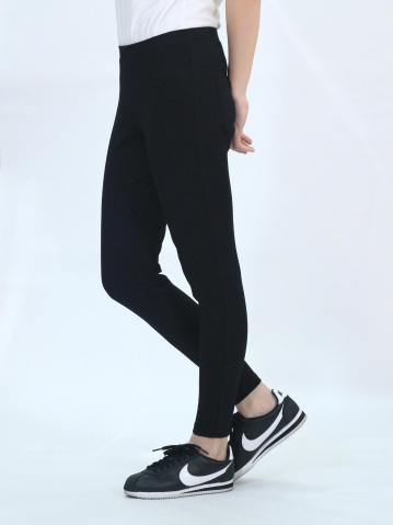 OLLIE KNITTED LONG JEGGING IN BLACK