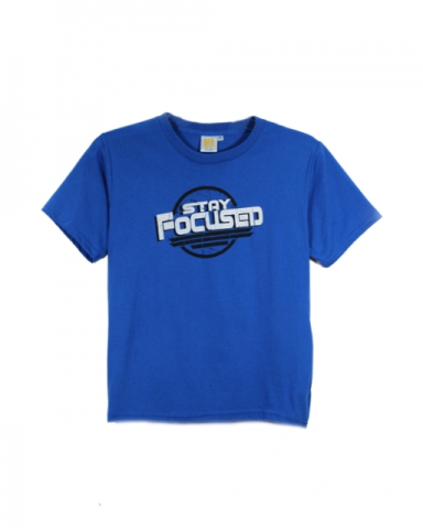 BOYS STAY FOCUSED GRAPHIC TEE IN ROYAL